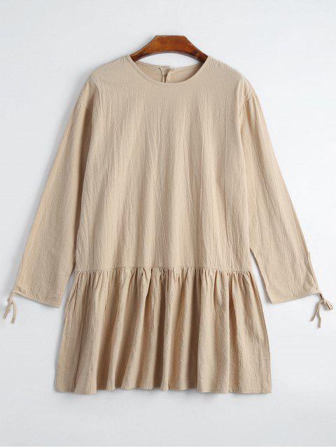 Robe à manches longues Embossée - Abricot S Mobile