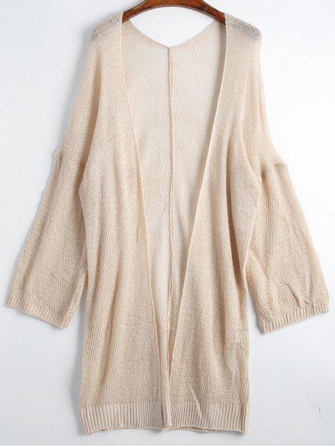 Cardigan Plaine Long Épaules Tombantes - Abricot Taille Unique Mobile