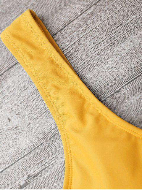 Traje de baño Bowknot recortada de pierna alta - Jengibre S Mobile