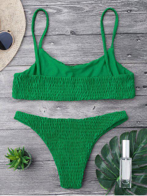 Top et Bas de Bikini Smockés - Vert profond M Mobile