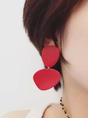 Boucles D'oreilles En Résine - Rouge