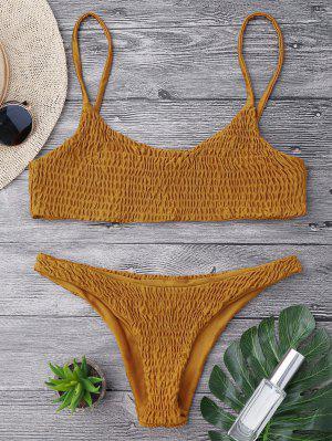 Geklemmte Bikini-Oberseite und Unterseiten