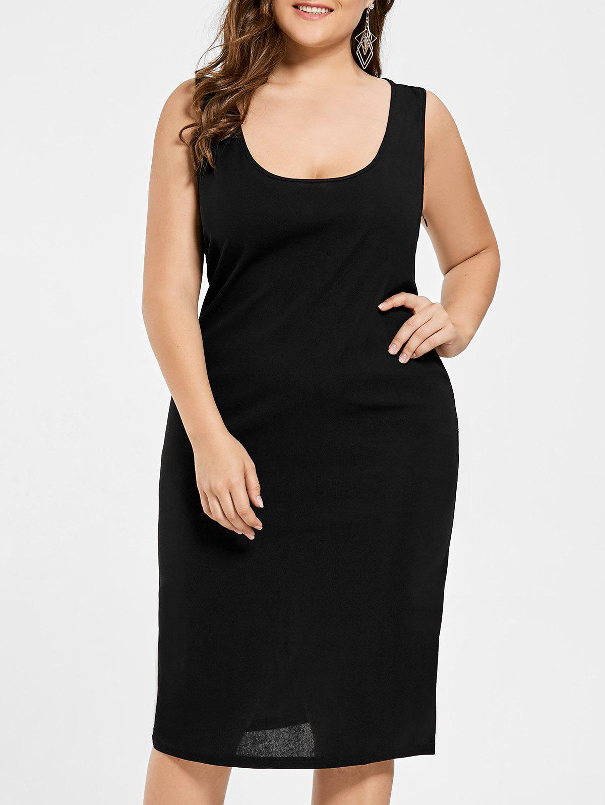 U Neck Plus Size Tank Dress