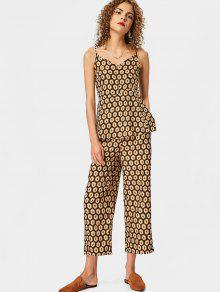 Overlap Geometric Straight Jumpsuit - M
