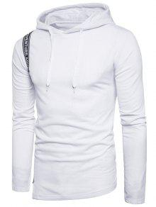 الرسم سلفيدج منمق لوحة البلوز هوديي - أبيض M