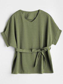 L En 233;rcito Del Ej V Con Verde Cuello Blusa OnBxTB