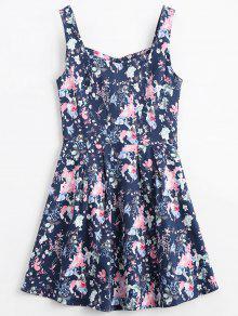 Floral A Line Dress - Floral 2xl