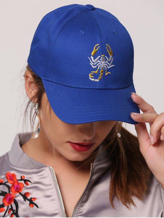 Scorpion Embroidery Sunscreen Baseball Cap - Royal