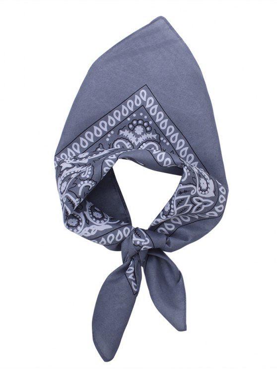 Quadratischer Schal mit Paisley Druck - Grau