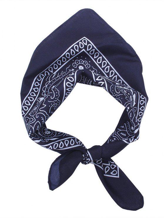 Écharpe carrée pour imprimé Paisley - Bleu Violet