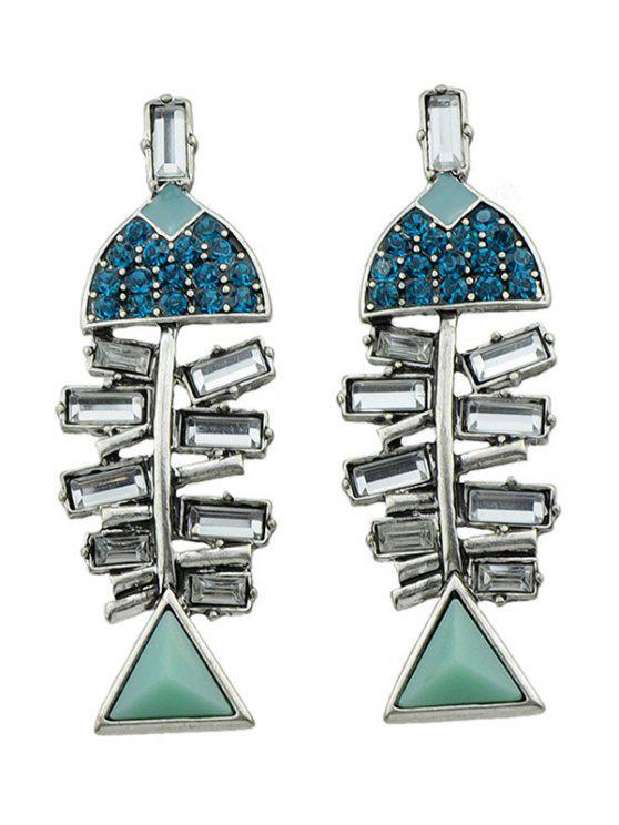 outfits Rhinestone Fish Shape Stud Earrings - SILVER