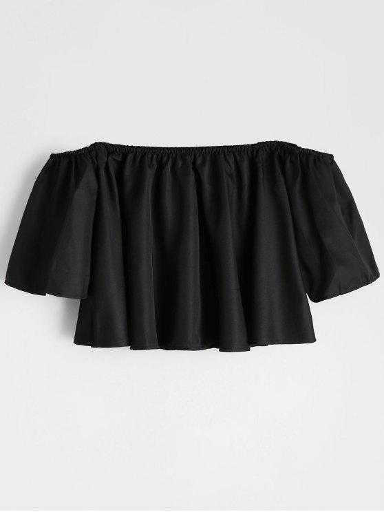 Manga Flare Off The Shoulder Cropped Blouse - Preto S
