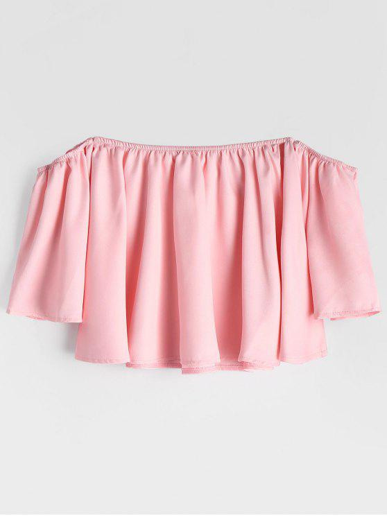 Manga Flare Off The Shoulder Cropped Blouse - Rosa S