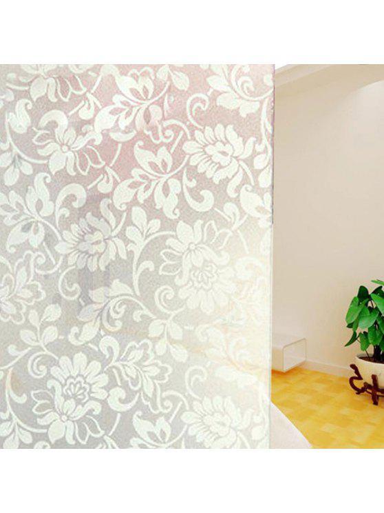 بك كهرباء زهرة زجاج الجدار ملصق - أبيض