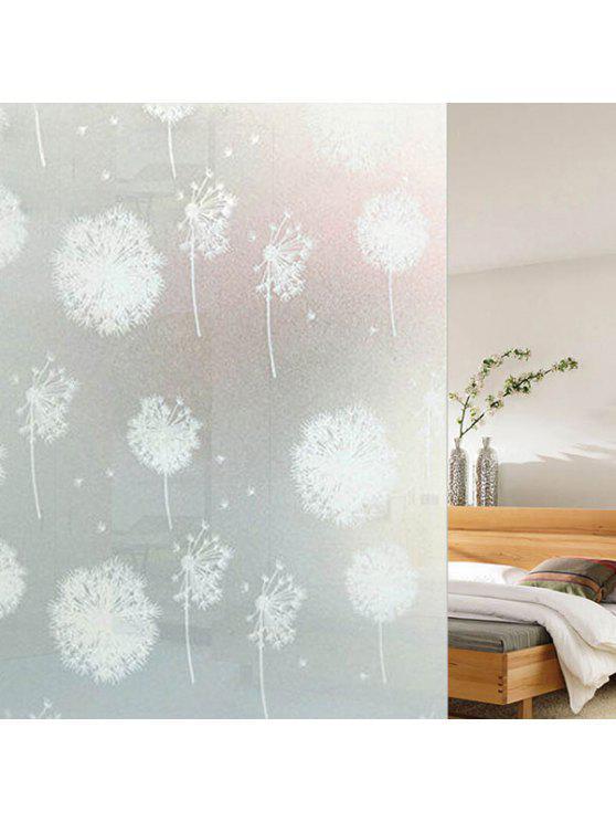 بك كهرباء الهندباء زجاج الجدار ملصق - أبيض