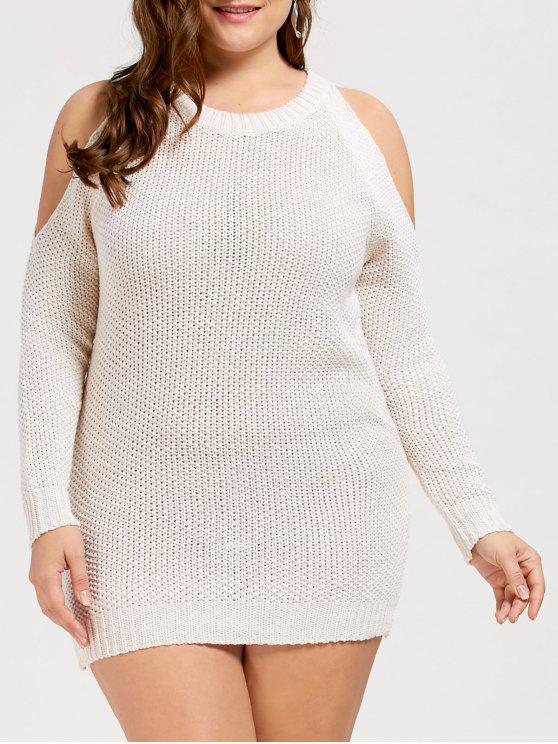 فستان مكشوف الكتفين - أبيض حجم واحد