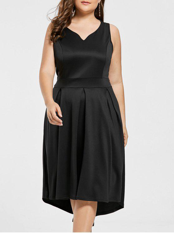 فستان من المقاس الكبير بدون أكمام - أسود 3XL
