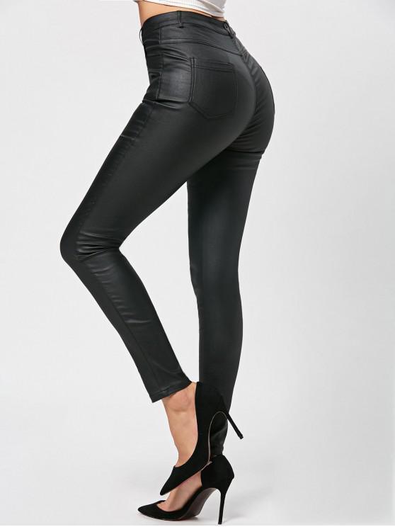 Pantalones pitillo pulidos - Negro 2XL