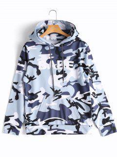 Hoodie Mit Känguru Tasche Und Camomuster - Camouflage S