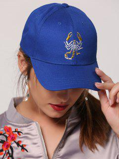 Scorpion Embroidery Sunscreen Baseball Cap - Royal
