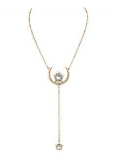 Moon Star Pendentif Collier - Or Rose