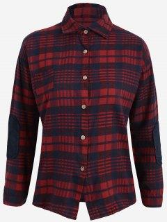 Chemise à Carreaux Grande Taille - Bleu Et Rouge 3xl