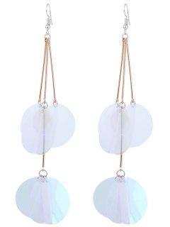 Gradient Color Design Hook Earrings - Transparent