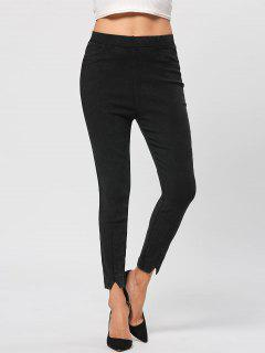 Elastic Wasit Pencil Jeans - Black L