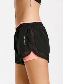 Mesh Double Layered Running Shorts - Orangepink L