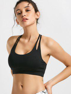 Quick Dry Strappy Sports Bra - Black M