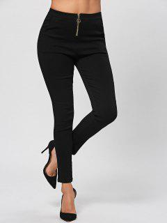 Zip Fly Pencil Pants - Black Xl