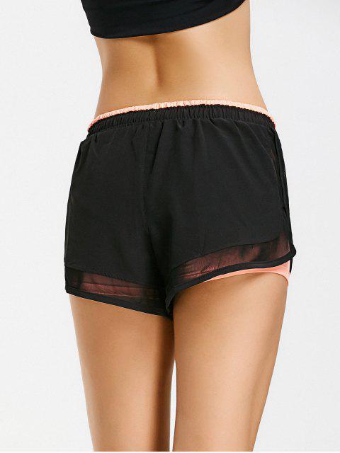 Shorts de course à double couche mous - Orange Rose L Mobile