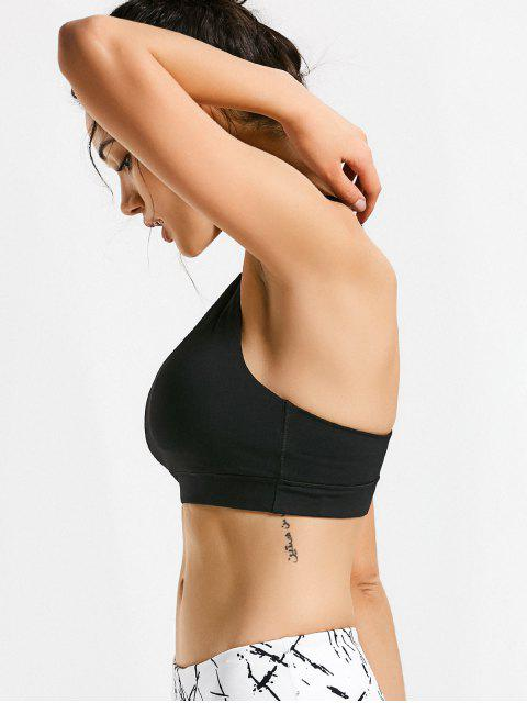 buy Quick Dry Strappy Sports Bra - BLACK M Mobile