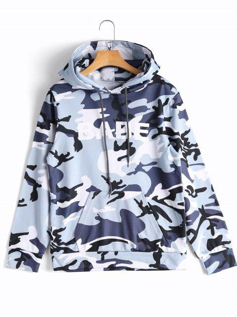 Hoodie mit Känguru Tasche und Camomuster - Camouflage M Mobile