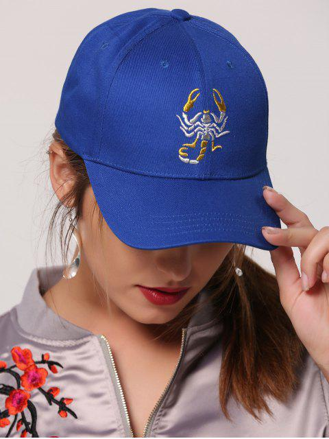 womens Scorpion Embroidery Sunscreen Baseball Cap - ROYAL  Mobile