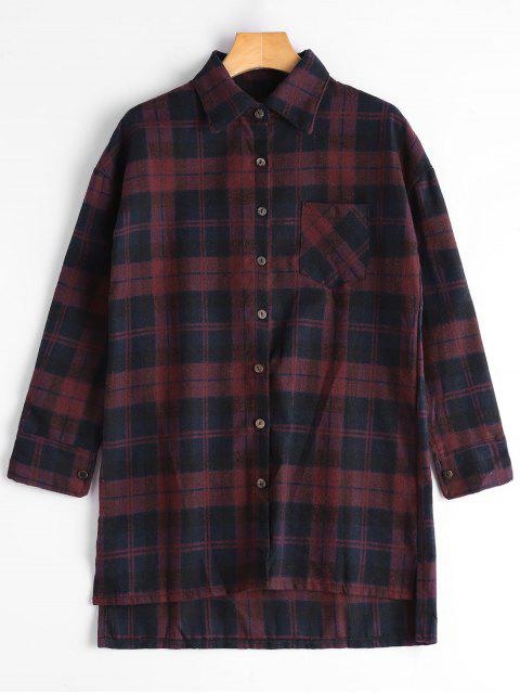 Camisa a cuadros de bajo palo - Azul y Rojo L Mobile