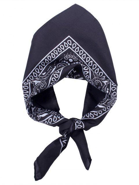 Quadratischer Schal mit Paisley Druck - Schwarz  Mobile