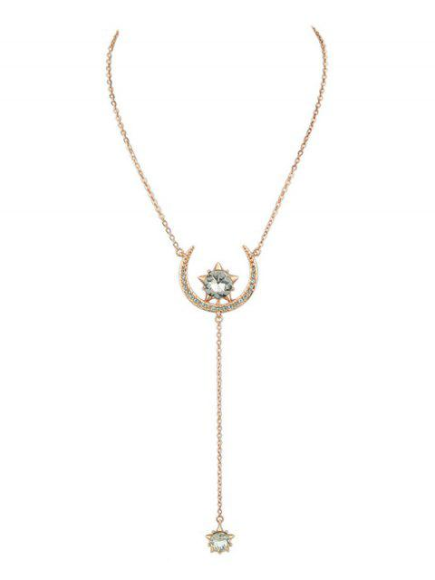 Moon Star Pendentif Collier - Or de Rose  Mobile