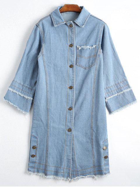Botón de chaqueta de mezclilla deshilachada - Garzo XL Mobile