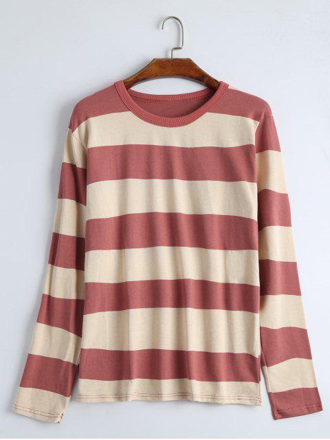 T-shirt Rayé Manches Longues à Col Rond - Anko- rouge Taille Unique Mobile