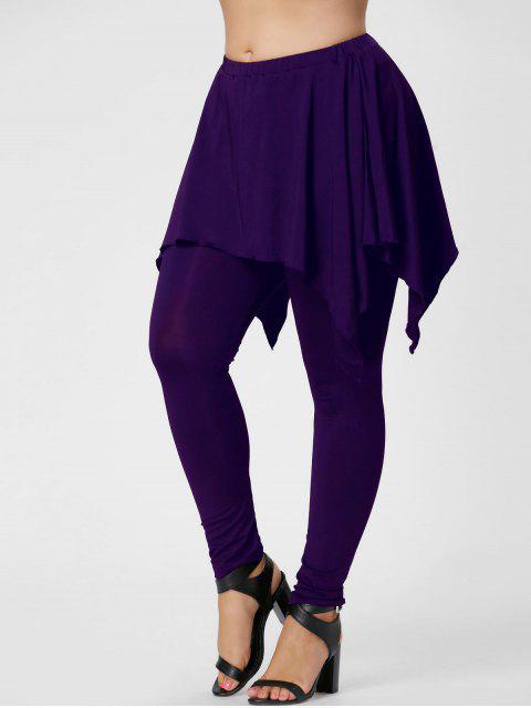 Pantalones de talla grande de Handerchief - Púrpura 3XL Mobile