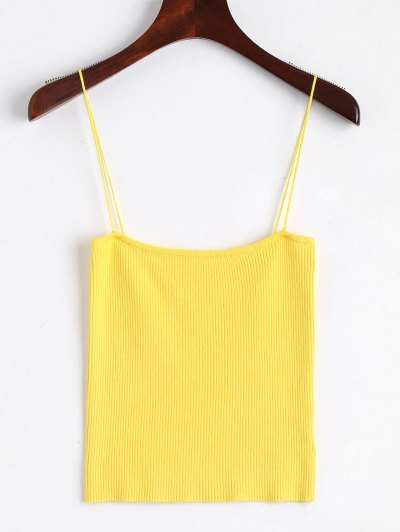 Ribbed Knitted Cami Tank Top