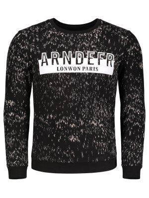 Sweatshirt à Lettre Imprimée - Noir - Noir Xl
