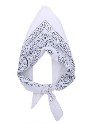 Quadratischer Schal mit Paisley Druck