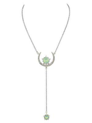 Moon Star Pendant Necklace - Silver