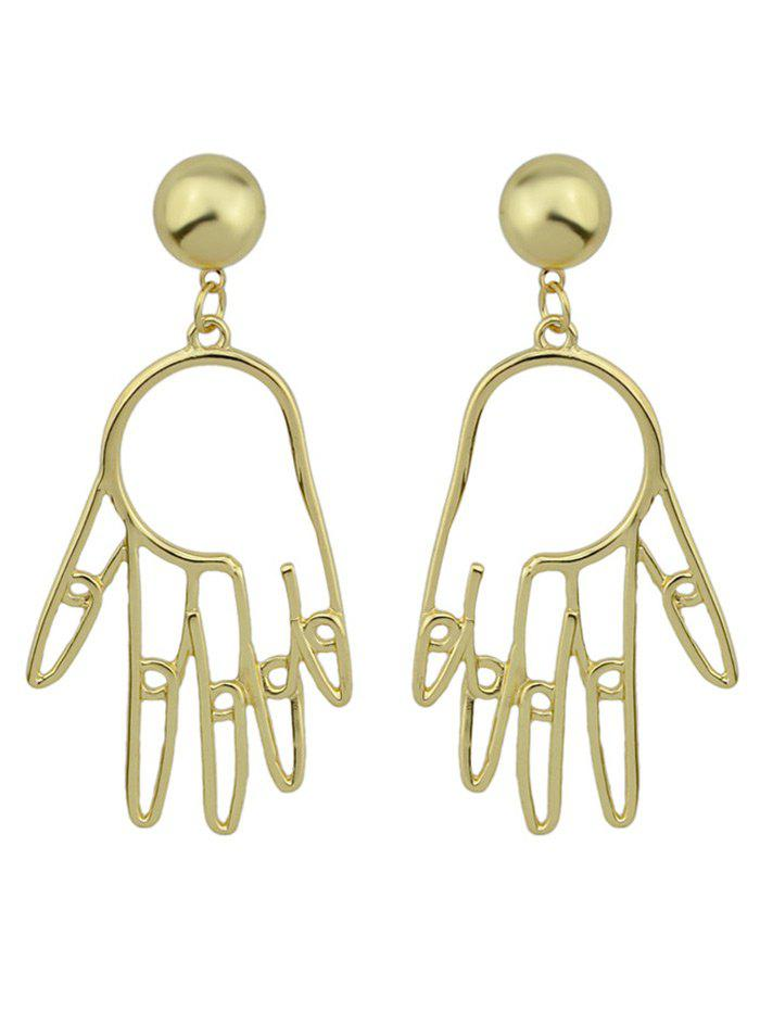Metal Hand Ball Funny Earrings