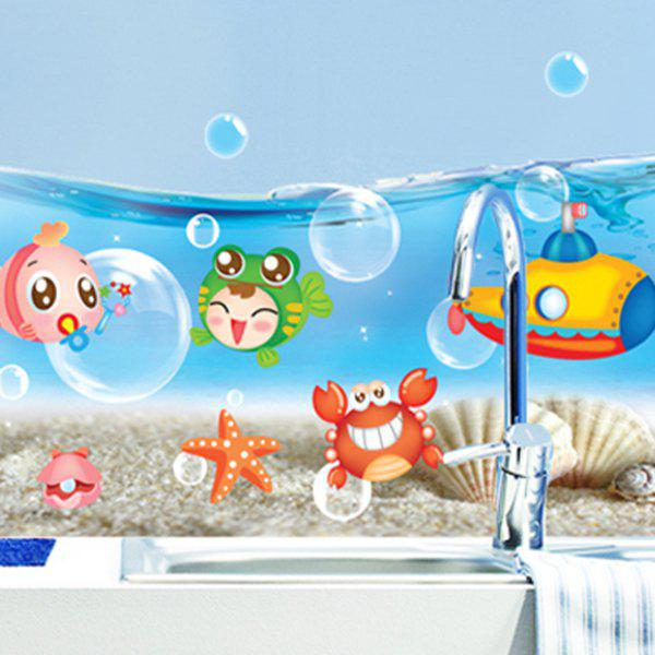 Cartoon Sea World Animal Wall Sticker 224115601