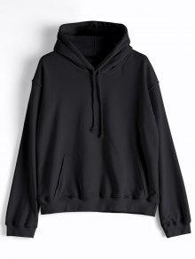 عارضة الكنغر جيب عادي هودي - أسود M