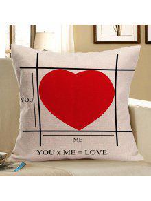 الأحمر القلب نمط الزخرفية وسادة القضية - أحمر W18 بوصة * L18 بوصة