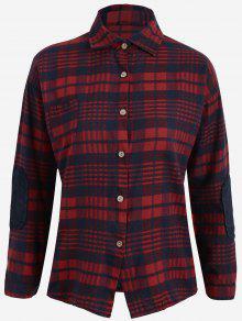 Tartan Plus Size Shirt - Blue And Red 3xl
